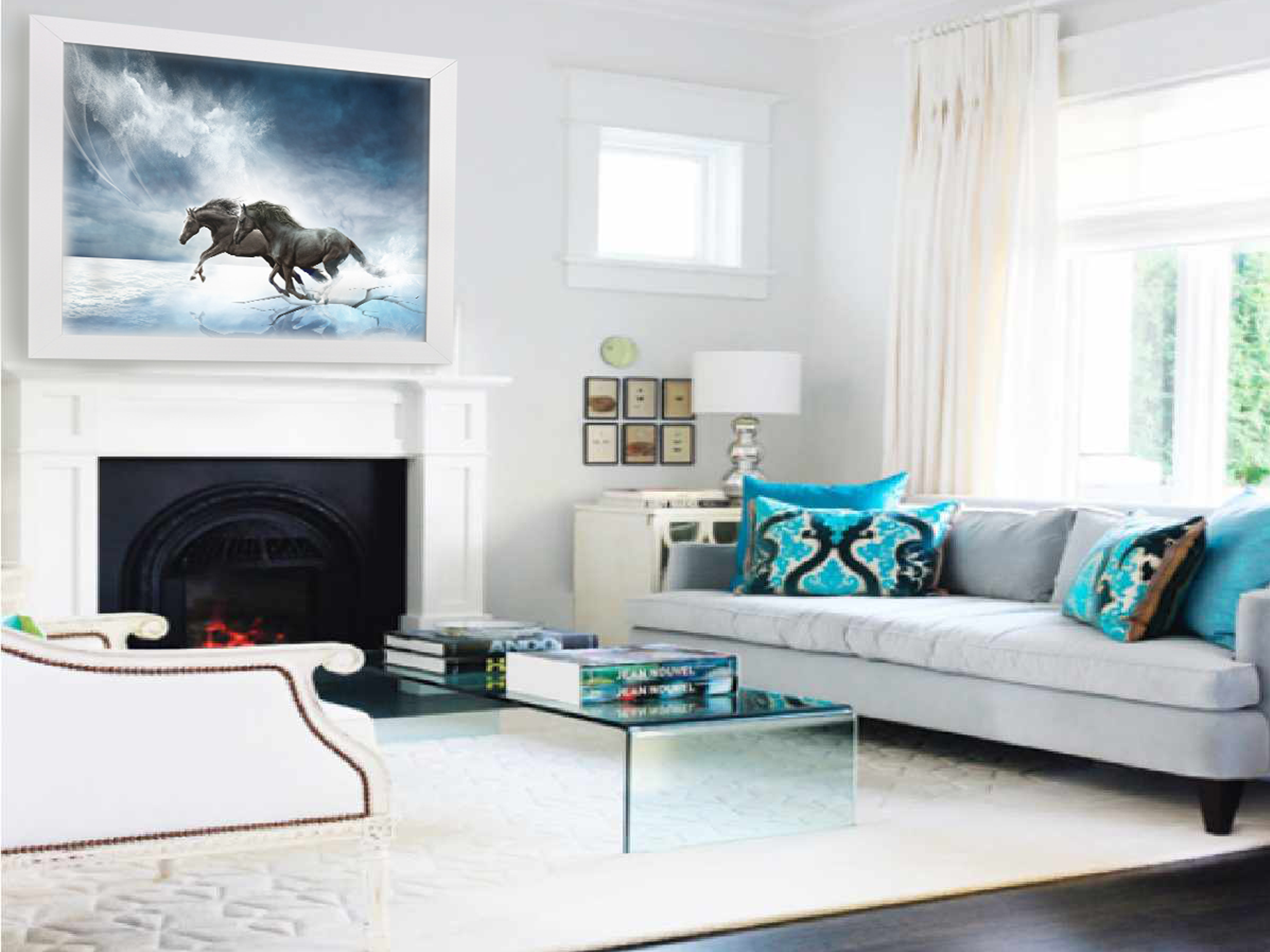 power-of-unity-horses-contemporary-livingroom